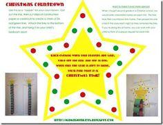 Christmas Countdown Chain printable *free*