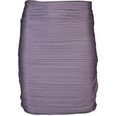 HALSTON HERITAGE lavender purple Ruched skirt ❤ liked on Polyvore