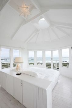 Cottage style bedroom with a magnificent view.