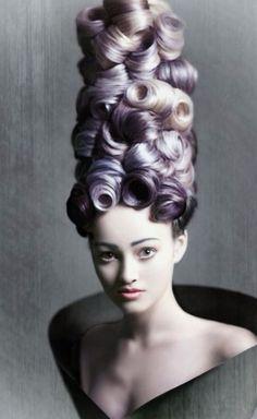 Pastel lilac haircolor