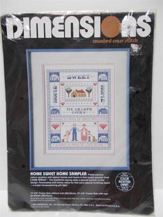 Dimensions Home Sweet Home Cross Stitch Sampler #Dimensions