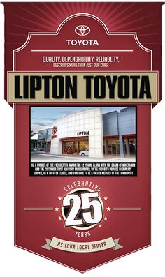 Lipton Toyota is a new Toyota dealership located in Fort Lauderdale, Florida. Not only do we sell new Toyotas, but we also deal used cars to the Southern Florida region. Lipton Toyota takes pride in financing vehicle purchases to drivers near Fort Lauderdale and beyond. Need Toyota service, maintenance or repair? Swing by to get your oil changed, tires rotated, car fixed at our top rated Toyota service facility.