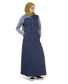 ed6ed7842a Get £41.81 Silk Route Soft Denim Abaya Urban Cotton Maxi Dress Jilbab …  Hurry up