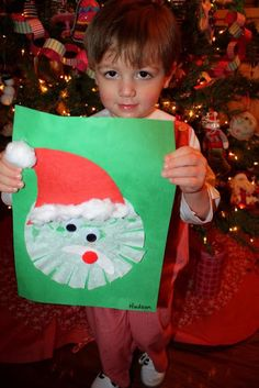 Santa craft w/ coffee filter Preschool Christmas Crafts, Christmas Art Projects, Preschool Arts And Crafts, Christmas Arts And Crafts, Santa Crafts, Holiday Crafts For Kids, Daycare Crafts, Christmas Activities, Xmas Crafts