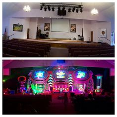 another great week, sharing the Gospel with the families around Millersburg PA here's a before/after shot of our invasion at Millersburg Assembly of God #AlienChurchMakeover #KidzturnChurchMakeover