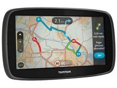 """GPS Automotivo Tomtom GO 60B - Tela 6"""" Mapa 3D Alerta de Radar"""