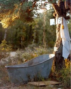 Maybe not for an outdoor bath, but for filling with canned drinks when entertaining?