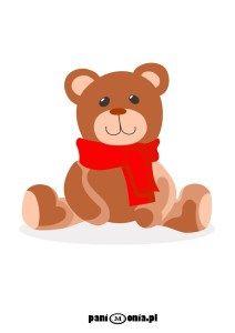miś teddy bear cartoon print