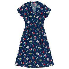 Paradise Bunch Button Front Crepe Dress | Paradise Florals | CathKidston