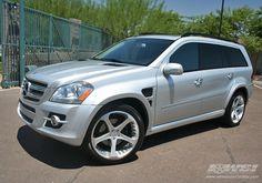 "mercedes GL with custom wheels | 2007 Mercedes Benz GL-Class with 22"" Giovanna Dalar-5 in Chrome wheels ..."