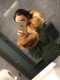 Tienda Online Hot 2016 de Moda de Piel Genuina de invierno Parka100 % Real de piel de Zorro Rojo Abrigo Largo Femenino Parka de Piel de Zorro de las mujeres de Tendencia | Aliexpress móvil