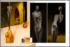 Janet Leal - Laura Pascual   ¨Sincronía¨ Exposición de pinturas y esculturas.  Fotografías por Héctor Falagán De Cabo   hfilms & photography. Fundación  López Fuseya.