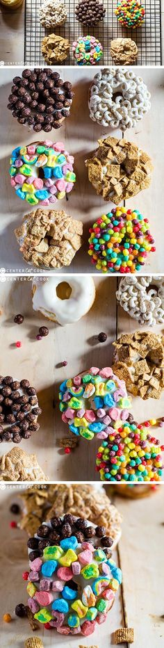 These BAKED MILK and CEREAL doughnuts are much healthier than the fried kind and infinitely customizable using all of your favorite types of cereal! Your kids will surely love making this easy doughnut recipe with you Saturday morning!