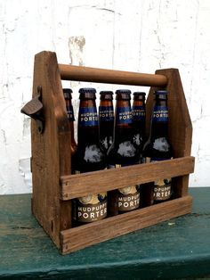 Wooden 6 Pack Beer Carrier Ready to Ship in 1 Day Beverage