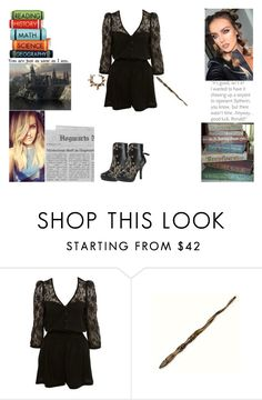 """""""You At Hogwarts - Round 1"""" by ilovecats-886 ❤ liked on Polyvore featuring Miss Selfridge, Ash, Luna and yahs1r1"""