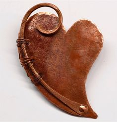 Hand Forged Rustic Copper Heart Pendant Component by SunStones on Etsy https://www.etsy.com/listing/239531790/hand-forged-rustic-copper-heart-pendant