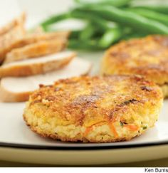 Savory Millet Cakes: not sure how to incorporate the super high protein grain, Millet?! Make it into a 'cake' of course. Shredded carrots and zucchini make this a fantasticly filling and nutrient dense vegetarian main course or side dish!
