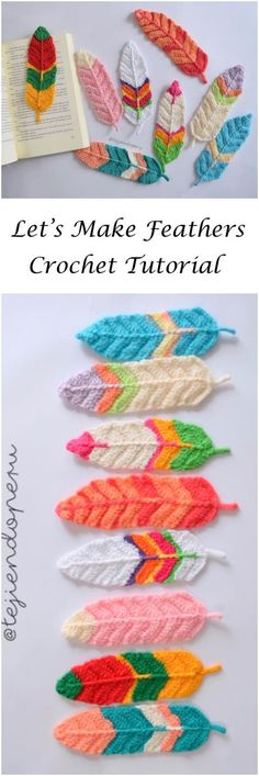 Reversible Feathers Crochet Tutorial | crafts | Pinterest | Federn ...