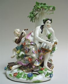 MEISSEN GROUP OF THE MUSE CALIOPE, Circa 1744-45