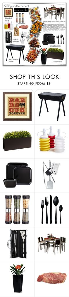"""Summer Backyard Barbeque"" by samoan72 on Polyvore featuring interior, interiors, interior design, home, home decor, interior decorating, Amanti Art, Room Essentials, Rösle and Master Class"