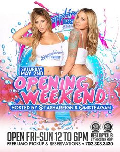 Meet Adult Stars Tasha Reign and Teagen Presley during Opening Weekend of Sapphire Pool & Day Club May 2
