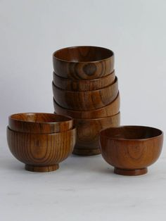 Japanese light wood rice bowl, 10cm diameter. **Available to hire** (Stock code;- BOWO10181)