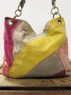 82758483d Details about FOSSIL Multi Colored Leather & Suede Lyla Patchwork Hobo Bag  Slouch Purse *AS IS. Bolsa CiganoBolsas De CouroCouro ...