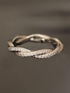 awesome Michael B. Double Twist Eternity Band