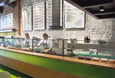 Fast Food Restaurant Salad Station Istanbul ID Design Fast Casual Restaurant, Casual Restaurants, Fast Food Restaurant, Restaurant Counter, Greens Restaurant, Salad Design, Food Design, Design Ideas, Restaurant Interior Design