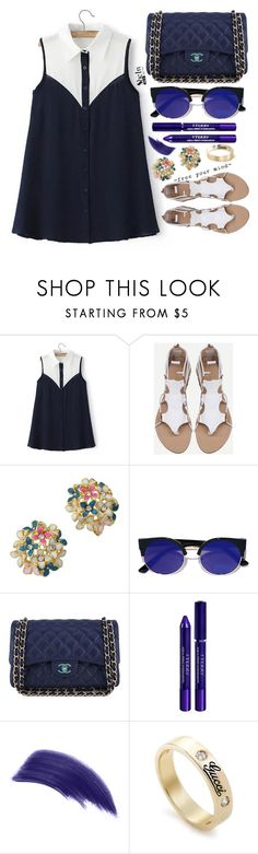 """Shein"" by simona-altobelli ❤ liked on Polyvore featuring LULUS, Chanel, By Terry, Ellis Faas and Gucci"