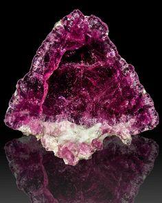 Pink/Red LIDDICOATITE TOURMALINE Crystal PolishedSlice Russia