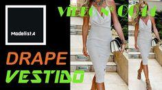 VIDEO ModelistA No 0044 - Vestido decote drape