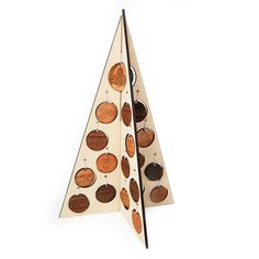 Advent Christmas tree wooden decoration