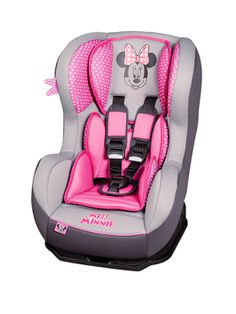 Disney Minnie Mouse Pink Dots Cosmo Car Seat - Toys R Us - Britain's greatest toy store Minnie Mouse Car, Minnie Mouse Nursery, Baby Bling, Disney Babys, Baby Disney, My Baby Girl, Baby Love, Babies R Us, Baby Kids