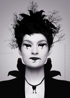 Crow Lady w crow lips