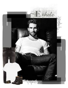 """Adam Levine, sigh..."" by lmm2nd ❤ liked on Polyvore featuring Adam Levine, Nudie Jeans Co., Yves Saint Laurent, Polo Ralph Lauren and Frye"