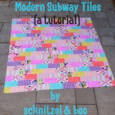 Schnitzel  Boo: Tutorial: Modern Subway Tile Quilt