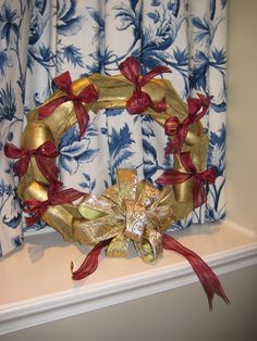 Christmas wreath...from old pointe shoes!