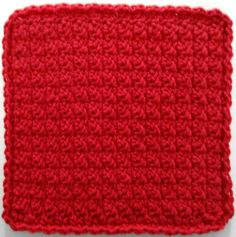 Hundreds of really cool dishcloth patterns for free!! #358 Basic Red Dishcloth – Maggie Weldon Maggies Crochet