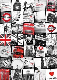 """Tableau """"Rues de Londres"""" http://deco-maison-fr.com/article/448/tableau-rues-de-londres#"""