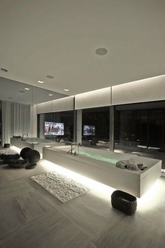 modern home, minimalistic, futuristic interior, future home, futuristic bathroom, tv, futuristic furniture, futuristic interiror design,bath