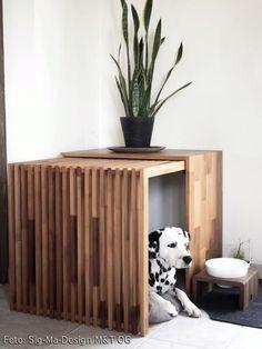 Funktional und ästhetisch: Möbel für Haustiere – Hundehütte als Möbelstück. Mehr Ideen auf roomido.com #roomido #dogs #dalmatiner
