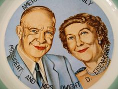 President Dwight D. Eisenhower and First Lady Mamie.  Prez & First Lady in 1959, when this play is set.