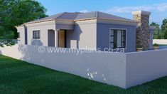 3 Bedroom House Plan - My Building Plans South Africa Round House Plans, My House Plans, Family House Plans, My Building, Building Plans, House Plans South Africa, 2 Bedroom House Plans, Contemporary House Plans, Open Plan Living