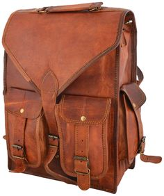 Mens Vintage Genuine Leather Laptop Backpack Rucksack Messenger Bag Satchel  NEW  fashion  clothing   2429bdb72d9