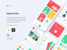 Hi Guys!Marvie is your top-notch multipurpose UI kit with bright and friendly colors. Full-featured and handy. Trendy and eye-catching. Created with care of designers and users.All components a. Mobile App Design, Web Mobile, Mobile App Ui, Web Design, App Ui Design, Graphic Design, Dashboard Design, App Design Inspiration, Ui Kit