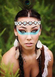 Native American Indian Face Makeup