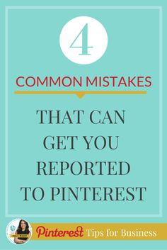 Pinterest for Business Tips | Here are 4 common mistakes that can get you reported to Pinterest http://www.whiteglovesocialmedia.com/how-to-fix-broken-links-and-dead-pages-for-pinterest-and-how-it-can-hurt-you-if-you-dont/ | Pinterest  Marketing Tips by Anna Bennett