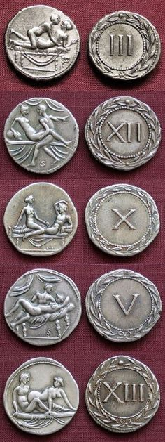 Spintrii, ancient tokens used to enter Roman... | Museum of artifacts