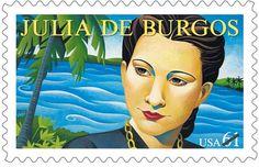 PRACTICA: Es un poeta puerrtoriqueno muy famosa. Es en sello. PERSPECTIVA: Ella reconoce para su obra en el EEUU.